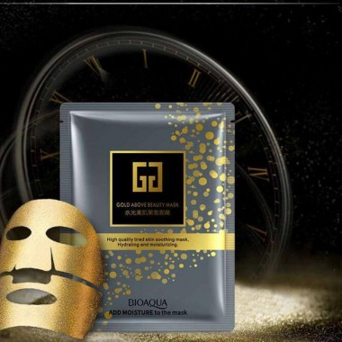 ТКАНЕВАЯ МАСКА BIOAQUA Gold Above Beauty Hydrating Moisturizing Mask Face Mask