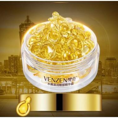 VENZEN Капсулы с омолаживающей сывороткой для кожи вокруг глаз с витамином E и плацентарным экстрактом, 30шт.