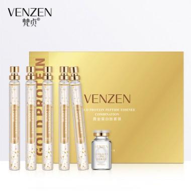 ЗАМЯТА КОРОБКА Набор Venzen Gold Protein жидкие пептидные нити для подтяжки лица