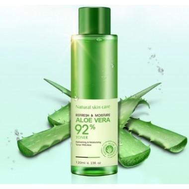 Увлажняющий восстанавливающий тонер-эмульсия для лица Rorec Refresh&Moisture Aloe Vera 120 г.