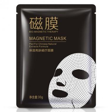Тканевая маска с магнитами Bioaqua Bio-magnetic mask с экстрактом розы.