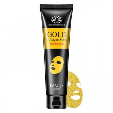IMAGES Золотая маска пленка с коллагеном для лица Gold Collagen Mask 60 гр