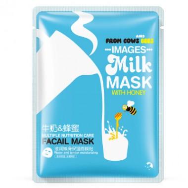 Тканевая маска для лица с мёдом и молоком images milk mask with honey