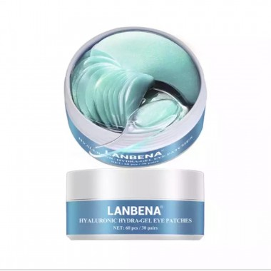 Гидрогелевые патчи для глаз Lanbena HYALURONIC ACID с гиалуроновой кислотой 60 штук