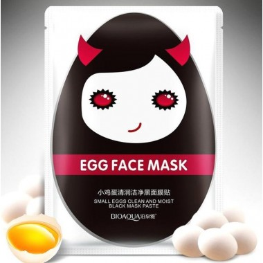МАСКА ЯИЧНАЯ ДЛЯ ЛИЦА С БАМБУКОВЫМ УГЛЕМ BioAqua EGG MASK