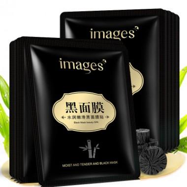 Тканевая маска для лица IMAGES с бамбуковым углем и эссенцией овса