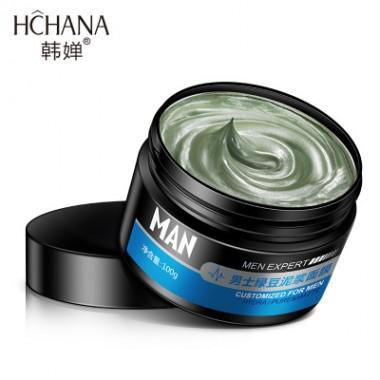 Маска очищающая для лица для мужчин Hchana men expert