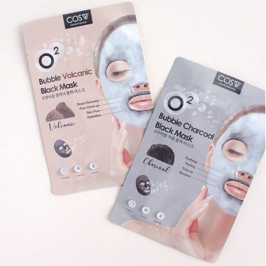 Тканевая маска DANJIA Bubble Black Mask,  30 ml.