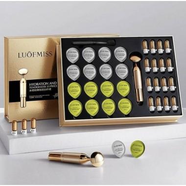 Подарочный набор Luofmiss Hydration 33 set (маски 2 вида, сыворотка кисть и массажер)