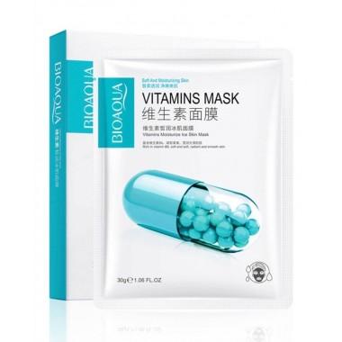 Маска для лица Bioaqua Vitamins Moisturize Ice Skin Mask, 30 гр.