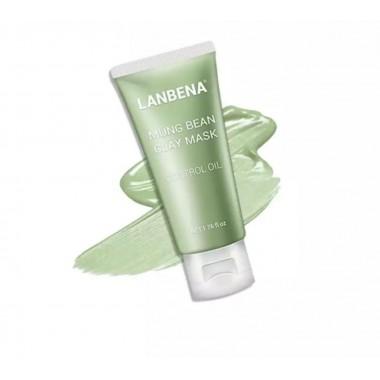 Lanbena увлажняющая маска для лица с бобами мунг для проблемной кожи 50 г.