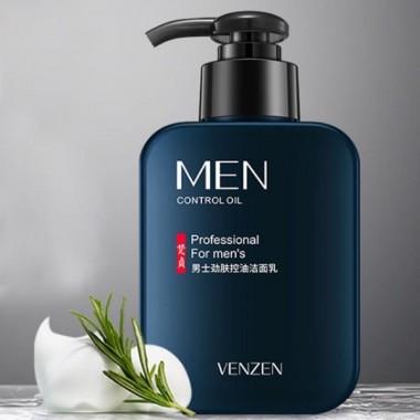 ПОВРЕЖДЕН ДОЗАТОР  Мужская очищающая пенка для умывания Venzen Men's oil control cleanser