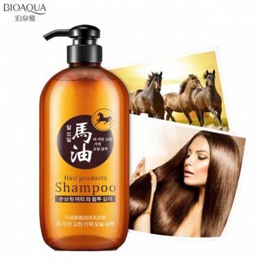 BIOAQUA Кератиновый шампунь с лошадиным маслом для поврежденных волос, 300 мл.
