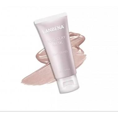 Lanbena Rose Clay Face Mask Отбеливающая маска для лица с экстрактом натуральной розы, 50 г