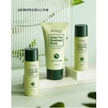 Набор с экстрактом зеленого чая для проблемной кожи Bioaqua green tea blackhead Сombination 3 в 1