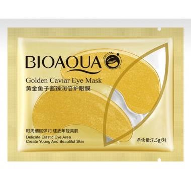 Патчи для глаз Bioaqua с биозолотом и экстрактом икры