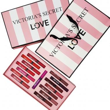 Набор жидких матовых помад Victoria`s Secret (15 шт)