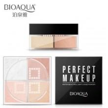 Рассыпчатая четырехцветная пудра BioAqua Perfect MakeUp Powder